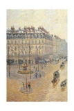 Avenue de L'Opera. Snow Effect. Morning Posters by Camille Pissarro