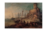 Sea Landscape with the Tomb of the Scipios Print by Jan Brueghel the Younger