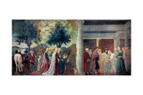 Legend of the Cross: Solomon & Sheba Prints by  Piero della Francesca