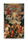 Kristi dåb Plakat af Annibale Carracci