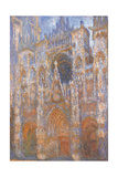 Rouen Cathedral, Full Sunlight Harmony in Blue Prints by Claude Monet