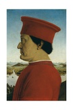 Duke of Urbino, Battista Sforza Posters by  Piero della Francesca