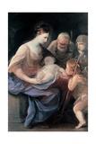 Holy Family with St. Elizabeth and St. John the Baptist Plakat av Guido Reni