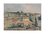 Countryside near Bellevue, copy after Cezanne by Egisto Paolo Fabbri, c. 1890-95. Italy Prints by Egisto Paolo Fabbri