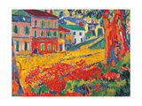 Restaurant La Machine at Bougival Prints by Maurice De Vlaminck