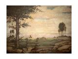 Landscape, Bernardino Luini, 16th c. San Maurizio al Monastero Maggiore Church, Milan, Italy Prints by Bernardino Luini