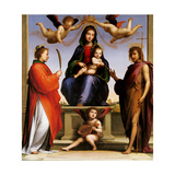 Madonna Enthroned with Saints Poster by  Fra Bartolomeo
