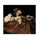 Sleeping Girl Posters af Domenico Fetti
