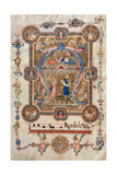 Choral music: Initial A with Christ and Prophets, Illuminated manuscript, 14th c. Pisa, Italy Prints