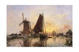 Boats by the Mill Plakát
