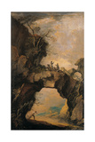 Landscape with Soldiers on a Natural Rock Arch Prints by Antonio Marini