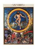 De Sphaera Mundi: Saturn, Unknown Artist, 1470-1480, Estense Library, Modena, Italy Prints