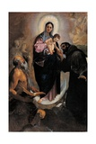 Madonna with Child and Sts. Michael, Catherine, Apollonia & John. by Ludovico Carracci, c. 1590-93. Posters af Ludovico Carracci