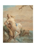 Ruggiero Saving Angelica, detail Prints by Tiepolo Giambattista