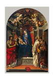 Virgin and Child, with SS. John, Victor, Bernard, Zenobius Prints by Filippino Lippi