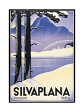 Advertising poster Silvaplana, Switzerland Giclee Print by Johannes Handschin