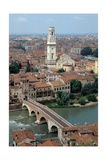 Verona, Italy, Gateway to Ponte Pietra, a Roman 1st c. bridge over the Adige River. Posters