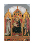 Enthroned Madonna and Child with Sts. John & Clement Pope Prints by Antonio da Fabriano