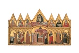 Polyptych of the Presentation in Temple, Pieta, Twelve Saints Prints by  Pseudo Jacopino
