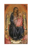 Madonna Enthroned with Child Kunst af Lorenzo Monaco