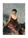 Countess de Rasty Seated on an Armchair Prints by Giovanni Boldini