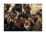 Moses Draws Water from a Rock, by Tintoretto, 1577. Scuola Grande di San Rocco, Venice, Italy Giclee Print by Tintoretto