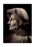 Bust of Actor Tiberio Fiorilli known as Scaramouche, 1633-1690. Scala Theater, Milan, Italy Print