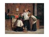 Wine of the Parish Priest Reproduction giclée Premium par Demetrio Cosola