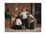 Wine of the Parish Priest Affiches par Demetrio Cosola