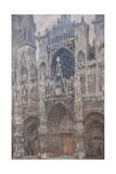 Rouen Cathedral. Grey Day - Harmony in Grey, Monet Claude, 1892-1894. Musee d'Orsay, Paris. Posters by Claude Monet