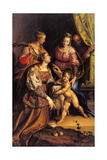 Madonna and Child, Sts. Joseph, Catherine, Agnes Poster by Antonio Campi