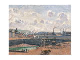 Dieppe, Dusquesne Docks Prints by Camille Pissarro