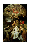 Deposition with Virgin and Sts. Clare, Francis, Mary Magdalene & John Prints by Annibale Carracci