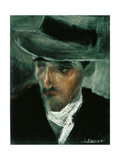 Portrait of Russolo Prints by Umberto Boccioni