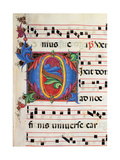 Choral response for religious services, illuminated manuscript, 14th c. Osservanza Basilica, Siena Posters