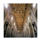 Basilica of St. John Lateran, Rome, with 17th c. interior architecture by Borromini, Italy Posters by  Borromini