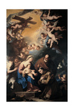 Holy Family Venerated by St. Anthony of Padua Prints by Luca Giordano