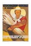 Assicurazioni Generali di Venezia (Poster for Crop Insurance) ポスター : マルチェロ・ドゥボビッチ