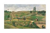 Route d'Ennery Affiches par Camille Pissarro