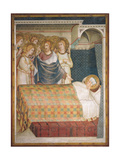 Life of St. Martin, Dream of St. Martin Plakater af Simone Martini