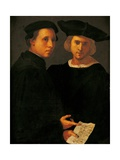 Portrait of Two Friends Poster by Pontormo Carrucci