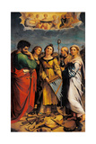 St. Cecilia with Sts. Paul, John the Evangelist, Augustine & Magdalene Print by  Raphael