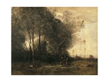 Dance of the Nymphs (Souvenir of Arleux) Posters by Jean-Baptiste-Camille Corot