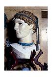 Blue Bathroom, sculpture head, 20th c, The Vittoriale, Brescia, Italy Posters