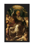 St. Charles in Glory Print by Giulio Cesare Procaccini