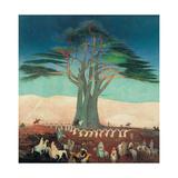 Tivadar Csontvary-Kosztka, Pilgrimage to the Cedars of Lebanon, 1907, Hungarian National Gallery. Poster von Tivadar Csontvary-Kosztka