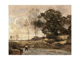 Hauling in the Nets Posters by Jean-Baptiste-Camille Corot