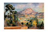 Mont Sainte Victoire Prints by Paul Cézanne