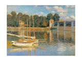 Argenteuil Bridge Art by Claude Monet