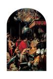 Baptism of Constantine, 16th c. Siena, Rome, Italy Kunstdrucke von Francesco Vanni